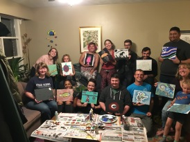 Davy Lab (and Friends) 2019 Paint Your Science shindig...